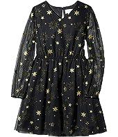 Foil Printed Mesh Dress (Big Kids)