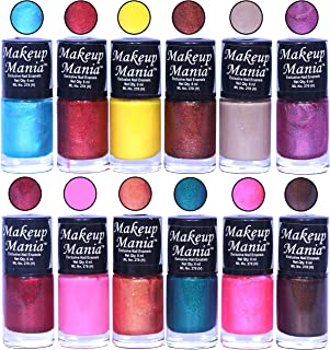 Makeup Mania HD Color Attractive Nail Polish Set of 12 Pcs in Unique Combo of Multicolor Nail Paints (MM-94), 400 g