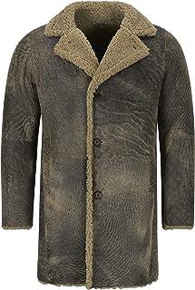 Smart Range Leather Cappotto in Pelle di Montone da Uomo, 3/4, Caldo, in Vera Pelle Trench Reefer Bane Coat 2K320