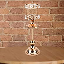 Gold Crystal Decoration Candlestick Holders, Candle Stand Candelabra Centerpiece for Modern Table Centerpieces, Wedding An...
