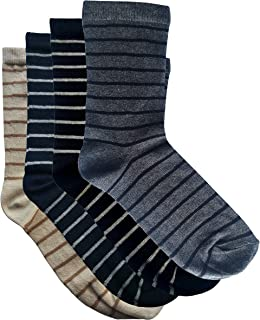 100% Cotton Socks - 4 pairs set, available in sizes 6 - 9 (UK size)
