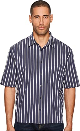 Vince - Narrow Stripe Single Pleat Long Sleeve Shirt