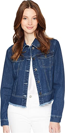Cillia Lace-Up Back Denim Jacket