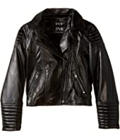 eve jnr - Leather Moto Jacket (Infant/Toddler/Little Kids)