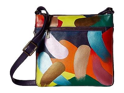 Anuschka Handbags 550 Expandable Travel Crossbody (Painterly Palette) Handbags