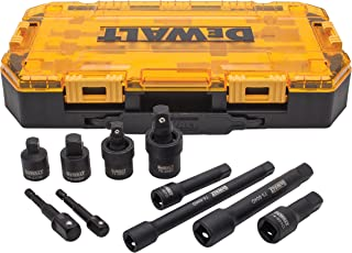 DEWALT Impact Driver Socket Adapter Set, 10-Piece 3/8