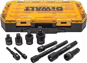 "DEWALT Impact Driver Socket Adapter Set, 10-Piece 3/8"" & 1/2"" Drive Metric (DWMT74741)"