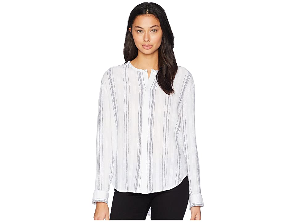 Image of AG Adriano Goldschmied Carla Shirt (White/Navy) Women's Clothing
