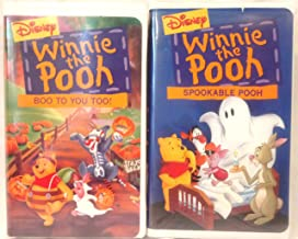 Walt Disney's Winnie the Pooh Halloween 2 Pack VHS Masterpiece Collection ~ Spookable Pooh, Boo to You Too!