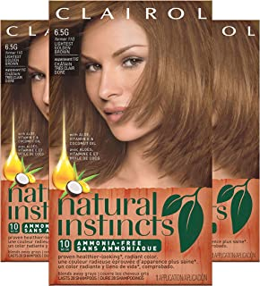 Clairol Natural Instincts Hair Color, Shade 6.5g 11g/amber Shimmer, 3 Count