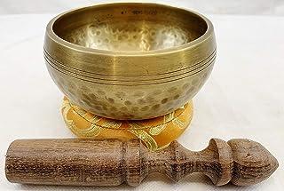 """J803 5"""" Palm Size Energetic Sacaral 'D' Chakra Healing Tibetan Singing Bowl Made in Nepal"""