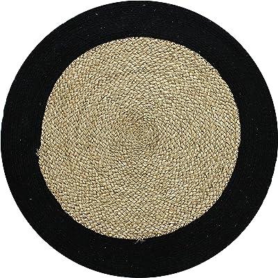 Tapis, 70cm Diamètre, Noir