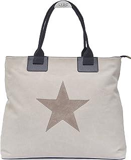 Vain Secrets großer Canvas Damen Shopper mit Stern