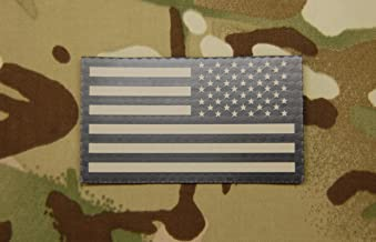 Infrared Reverse US Flag Patch - Tan & Black