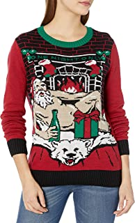 Women's Assorted Light-up Pullover Xmas Sweaters with Multi-Colored Led Flashing Lights