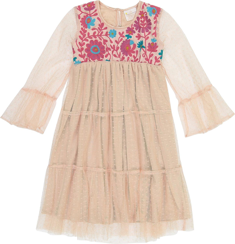 Masala Kids Girls' Little Tulle Gyspy Dress Blush