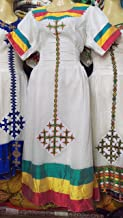 Ethiopian Habeshan,African Hand Made Traditional Unique Women's Clothing. Genuine Cotton Dress.