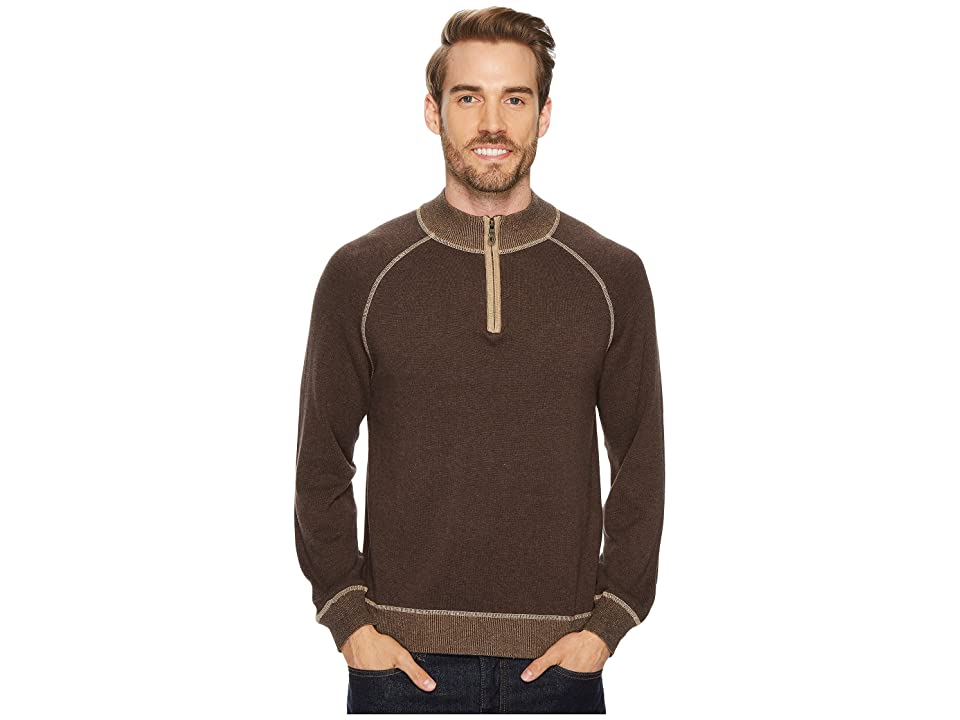 Agave Denim Victory at Sea Long Sleeve 1/4 Zip 12GG Sweater (Shale) Men