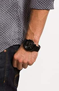 A|X Armani Exchange Banks Black Dial Black Ion-plated Mens Watch AX2094