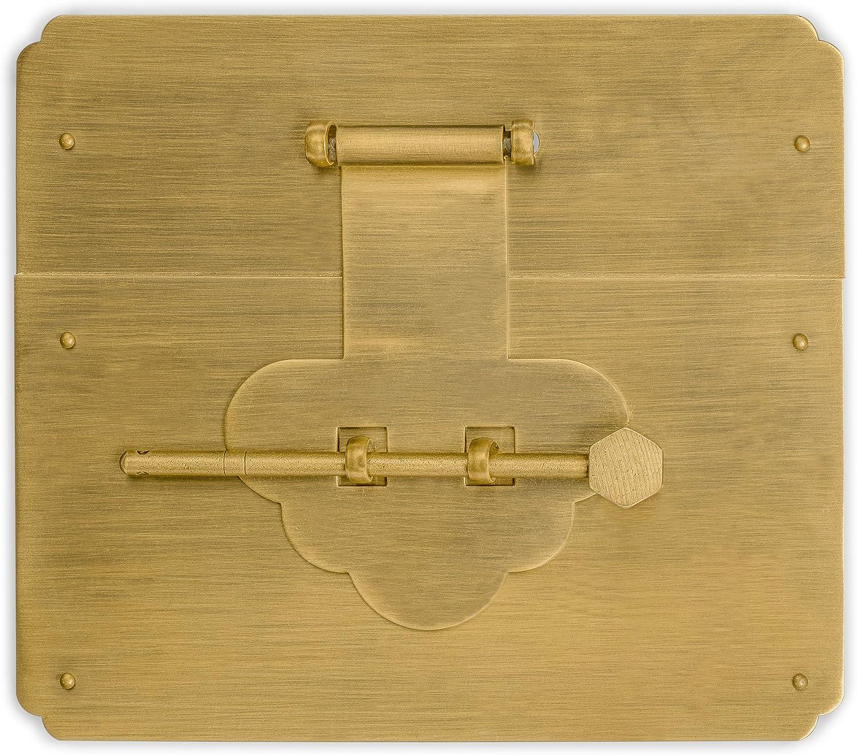 CBH Brass Mushroom Square Brand new Chest Box Hardware Sale item Latch Face Se Plate