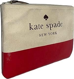 Kate Spade Ash Street Gia women's canvas clutch