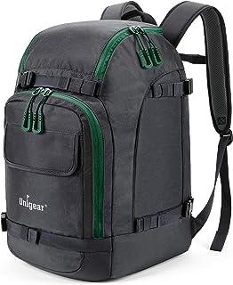 Unigear Ski Boot Bag, 50L Ski Boot Travel Backpack for Ski Helmet, Goggles, Gloves, Skis, Snowboard & Accessories