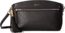 Calvin Klein Lynn Pebble Top Zip Crossbody