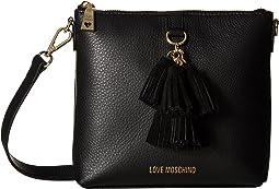 Leather Crossbody Bag with Tassel