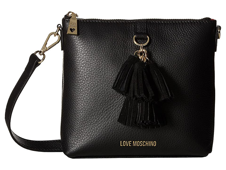 LOVE Moschino - LOVE Moschino Leather Crossbody Bag with Tassel