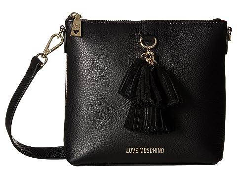 LOVE Moschino Leather Crossbody Bag with Tassel