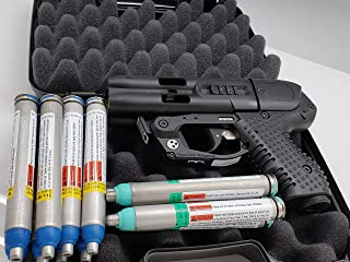 Piexon JPX4 C2 Black LE Defender with LED Laser - Compact Pepper Spray Gun Bundle