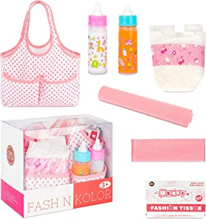 fash n kolor Doll Feeding Set with Bag