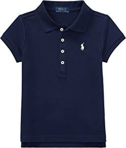 Short Sleeve Mesh Polo Shirt (Little Kids)
