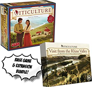 Viticulture: Essential Edition + Viticulture: Visit from The Rhine Valley Expansion! Board Game Bundle!