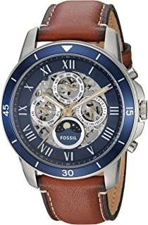 Fossil Men's Grant Analog Automatic Self Wind Brown Watch, (ME3140)