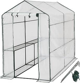 TecTake 800284 - Gewächshaus, Schützt Pflanzen vor Kälte, Regen, Hagel, Wind und Frost - Diverse Modelle 186x120x190 cm | Nr. 401861