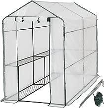 TecTake 800284 - Gewächshaus, Schützt Pflanzen vor Kälte, Regen, Hagel, Wind und Frost - Diverse Modelle (186x120x190 cm | Nr. 401861)