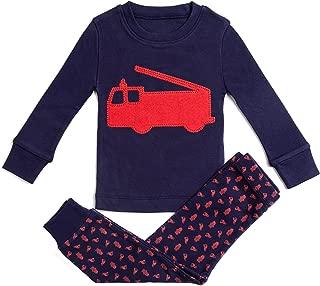 Bluenido Boys Pajamas Vehicle 2 Piece 100% Super Soft Cotton (12m-8y)
