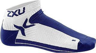 2XU Women's Performance Low Rise Socks, White/Navy, Medium/Large