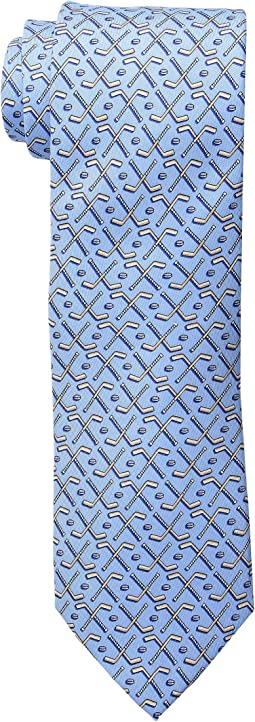 Crossed Hockey Sticks Printed Tie