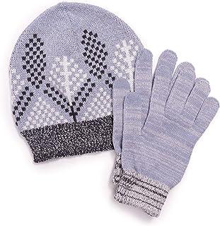 MUK LUKS womens Women's 2-Piece Beanie and Glove Set Winter Accessory Set