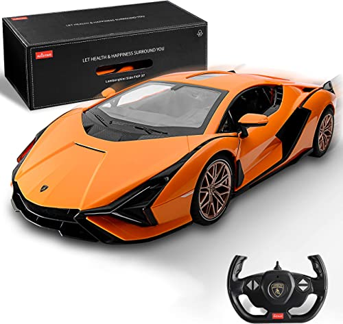 discount BEZGAR X RASTAR Licensed RC Series, 1:14 popular Scale Remote Control Car Lamborghini Sián FKP 37 outlet sale Electric Sport Racing Hobby Toy Car Model Vehicle for Boys and Girls Teens and Adults Gift (Orange) online