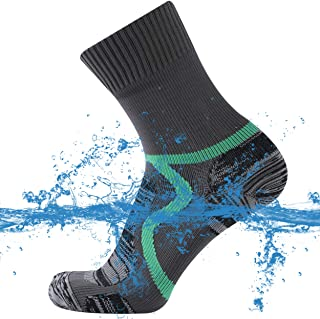 SuMade Unisex 100% Waterproof Breathable Hiking Running Crew Socks