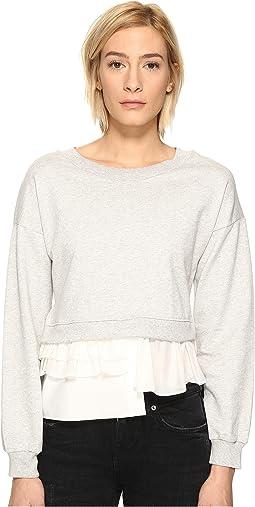 Sweatshirt w/ Bottom Ruffle