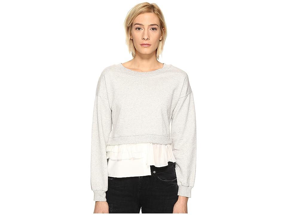 Boutique Moschino Sweatshirt w/ Bottom Ruffle (Grey) Women