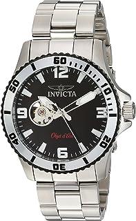 Invicta Men's Objet d'Art Automatic-self-Wind Reloj con correa de acero inoxidable, plateado, 22 (Modelo: 22624)