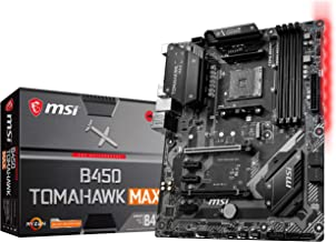 MSI Arsenal Gaming AMD Ryzen 2ND and 3rd Gen AM4 M.2 USB 3 DDR4 DVI HDMI Crossfire ATX Motherboard (B450 TOMAHAWK Max) (B4...