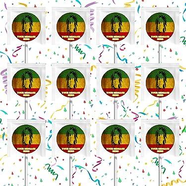 Bob Marley Party Favors Supplies Decorations Lollipops 12 Pcs