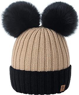 BUONDAC 2 pz Cappello in Maglia Invernali Berretti Unisex Donna Uomo Caldo per Inverno Autunno Primavera