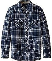 O'Neill Kids - Glacier Check Long Sleeve Shirt (Big Kids)